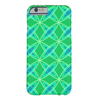 Mid Century Modern Atomic Print - Jade Green Barely There iPhone 6 Case