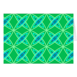 Mid Century Modern Atomic Print - Jade Green Stationery Note Card