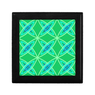 Mid Century Modern Atomic Print - Jade Green Gift Box