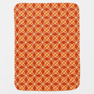 Mid Century Modern Atomic Print - Mandarin Orange Receiving Blanket