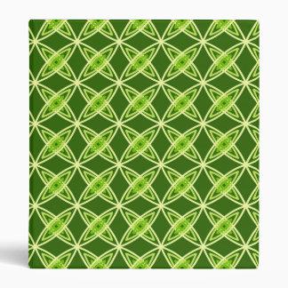 Mid Century Modern Atomic Print - Olive Green 3 Ring Binder