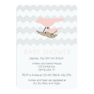 Mid century Modern Baby Shower Card