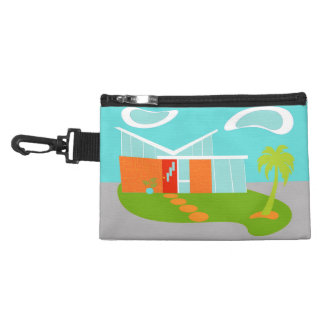 Mid Century Modern Cartoon House Accessory Bag