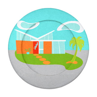 Mid Century Modern Cartoon House Button Covers