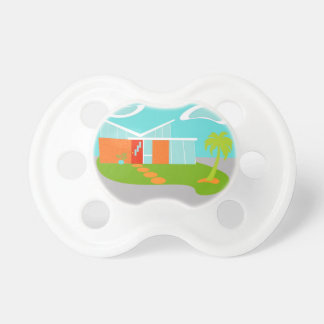 Mid Century Modern Cartoon House Pacifier
