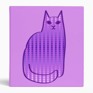 Mid-Century Modern Cat, Orchid and Purple Binder