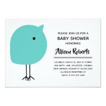 Mid Century Modern Chick Baby Shower Invitation