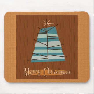 Mid Century Modern Christmas Tree Mouse Pad