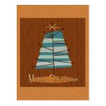 Mid Century Modern Christmas Tree Postcards