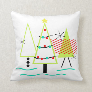 Mid Century Modern Christmas Pillows : Retro Pillows, Retro Throw Pillows