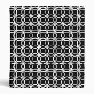 Mid-Century Modern circles, black, white and grey Binder