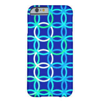 Mid-Century Modern circles, cobalt & peacock Barely There iPhone 6 Case