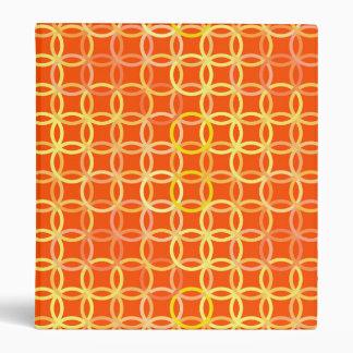 Mid-Century Modern circles, mandarin orange Binder