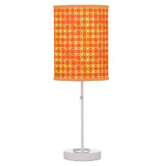 Mid-Century Modern circles, mandarin orange Desk Lamp