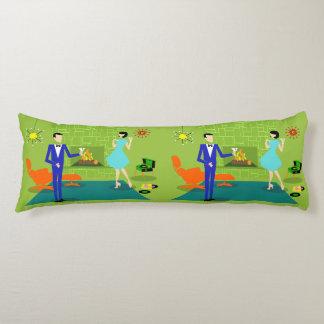 Mid Century Modern Couple Body Pillow