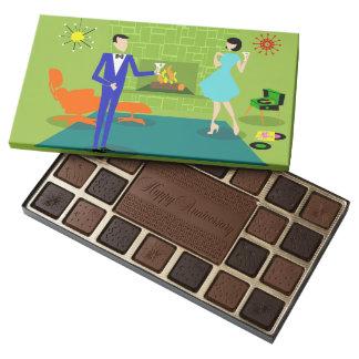 Mid Century Modern Couple Box of Chocolate
