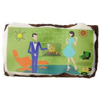 Mid Century Modern Couple Brownies