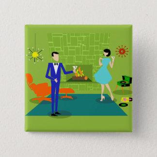 Mid Century Modern Couple Button