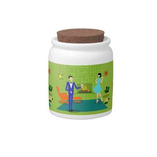 Mid Century Modern Couple Candy Jar