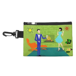 Mid Century Modern Couple Clip On Accessory Bag