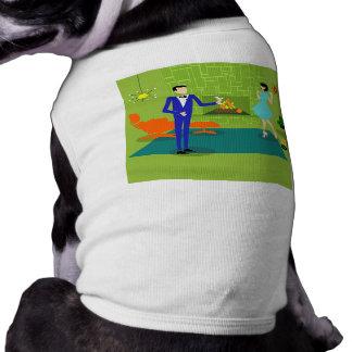 Mid Century Modern Couple Dog T-Shirt