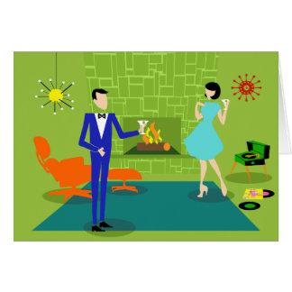 Mid Century Modern Couple Greeting Card