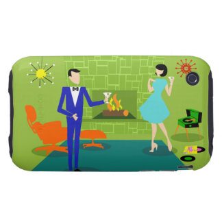 Mid Century Modern Couple iPhone 3G/3GS Case