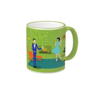 Mid Century Modern Couple Mug Ringer Mug