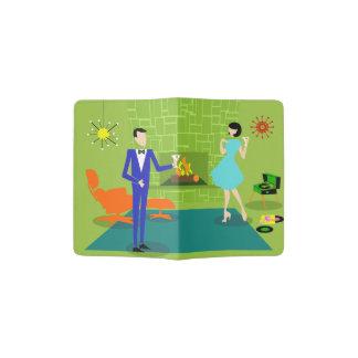 Mid Century Modern Couple Passport Holder
