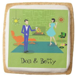 Mid Century Modern Couple Shortbread Cookies