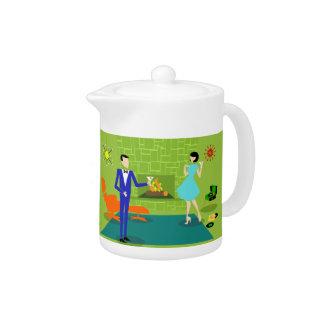 Mid Century Modern Couple Teapot