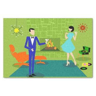Mid Century Modern Couple Tissue Paper