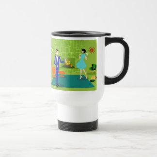 Mid Century Modern Couple Travel Mug