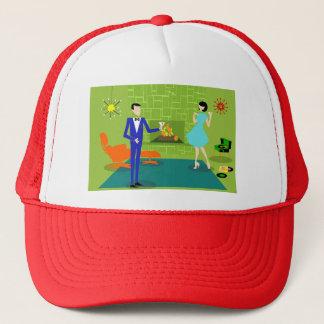 Mid Century Modern Couple Trucker Hat