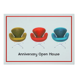 Mid Century Modern Customizable Special Event Card