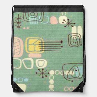Mid Century Modern Design Drawstring Backpack