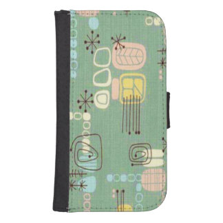 Mid Century Modern Design Galaxy 4S Wallet Case