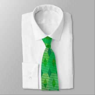 Mid-Century Modern Diamond Print, Jade Green Neck Tie