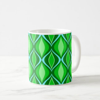 Mid-Century Modern Diamonds, Emerald Green Coffee Mug