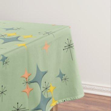 Beach Themed Mid Century Modern Eames Atomic Starbursts Custom Tablecloth