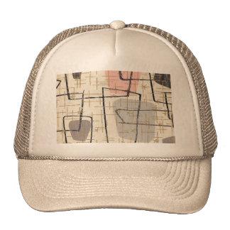 Mid Century Modern Fabric Trucker Hat