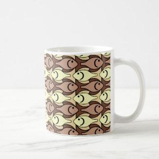 Mid-Century Modern fish, brown and yellow Coffee Mug