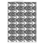 Mid-Century Modern fish, grey, white and black Stationery Note Card