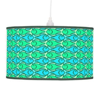 Mid-Century Modern fish, jade green Ceiling Lamps