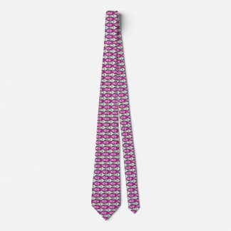 Mid-Century Modern fish, pink and grey Tie