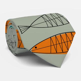 Mid-Century Modern Fish Tie Celery Green
