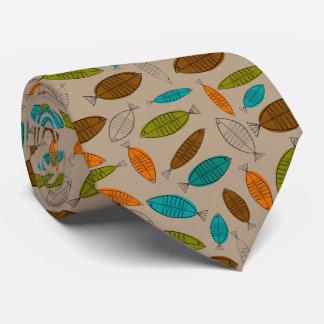 Mid-Century Modern Fish Tie Light Brown
