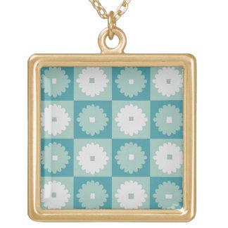 Mid Century Modern Geometric Flowers Necklace