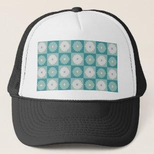 afb4f28cbf1ec Mid Century Modern Geometric Flowers Trucker Hat