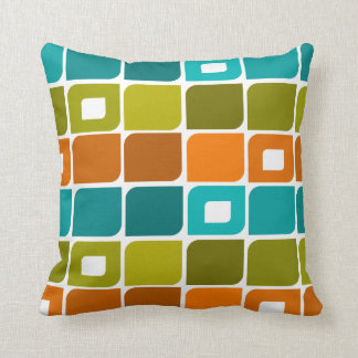 Mid-Century Modern Geometric Pattern Throw Pillow